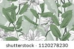 botanical seamless pattern ... | Shutterstock .eps vector #1120278230