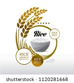 rice  premium quality vector... | Shutterstock .eps vector #1120281668