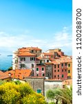 panoramic view of tellaro... | Shutterstock . vector #1120288700