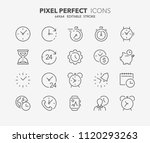 thin line icons set of time and ... | Shutterstock .eps vector #1120293263