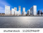empty asphalt road with city... | Shutterstock . vector #1120294649