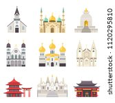 holy religious buildings from... | Shutterstock .eps vector #1120295810