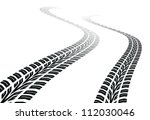 winding trace of the tires | Shutterstock . vector #112030046