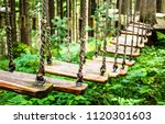 high ropes course at a forest | Shutterstock . vector #1120301603