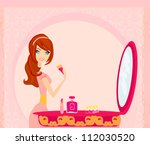 make up at home | Shutterstock .eps vector #112030520