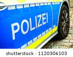 typical police vehicle in... | Shutterstock . vector #1120306103