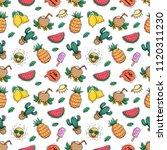 seamless pattern of summer... | Shutterstock .eps vector #1120311230