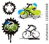 mountain bike cycling icons... | Shutterstock .eps vector #1120314668