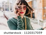 portrait of refined european... | Shutterstock . vector #1120317059