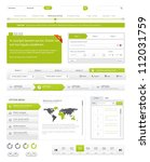 website navigation collection... | Shutterstock .eps vector #112031759