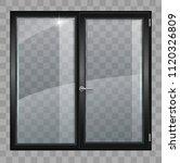 modern black plastic wide...   Shutterstock .eps vector #1120326809