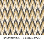 seamless ikat pattern. abstract ... | Shutterstock .eps vector #1120335920
