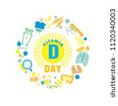 2 november   vitamin d day.... | Shutterstock .eps vector #1120340003