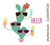 minimal summer trendy vector... | Shutterstock .eps vector #1120349120
