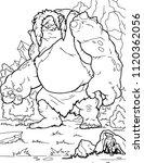cartoon cyclops polypheme ....   Shutterstock .eps vector #1120362056