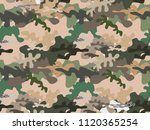 beautiful camouflage seamless... | Shutterstock .eps vector #1120365254
