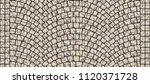 cobblestone arched pavement... | Shutterstock . vector #1120371728
