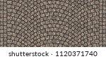 cobblestone arched pavement... | Shutterstock . vector #1120371740