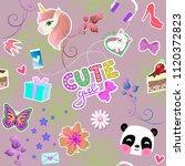 seamless background for little... | Shutterstock .eps vector #1120372823