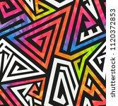 graffiti geometric pattern ... | Shutterstock .eps vector #1120372853