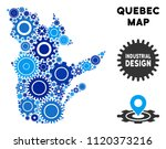 industrial quebec province map... | Shutterstock .eps vector #1120373216
