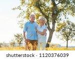 romantic senior couple holding... | Shutterstock . vector #1120376039