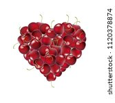 heart from cherry with gradient ... | Shutterstock .eps vector #1120378874