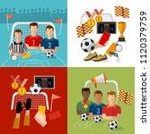 soccer set  football team ... | Shutterstock .eps vector #1120379759