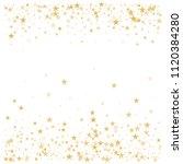 gold flying stars confetti... | Shutterstock .eps vector #1120384280