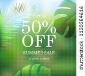 summer sale banner with... | Shutterstock .eps vector #1120384616