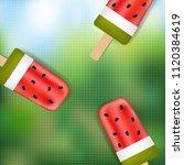 summer banner with ice cream... | Shutterstock .eps vector #1120384619