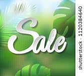 summer tropical banner with... | Shutterstock .eps vector #1120384640