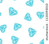 diamond jewel gem icon seamless ... | Shutterstock .eps vector #1120393010