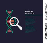 clinical research concept. dna... | Shutterstock .eps vector #1120394060