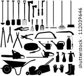 gardening tools collection  ... | Shutterstock .eps vector #112039646