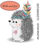 collection of cute and funny... | Shutterstock .eps vector #1120400150