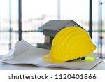 selective focus of helmet... | Shutterstock . vector #1120401866