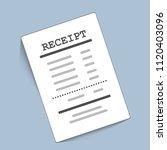 supermarket paper receipt. ... | Shutterstock .eps vector #1120403096