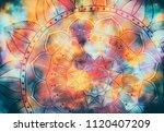 abstract mandala graphic design ... | Shutterstock . vector #1120407209
