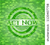 act now realistic green mosaic... | Shutterstock .eps vector #1120407758