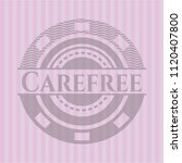 carefree retro style pink emblem | Shutterstock .eps vector #1120407800