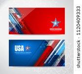 american flag background for... | Shutterstock .eps vector #1120409333