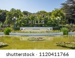 Small photo of Beverly Hills, CA: June 21, 2018: Beverly Hills Park sign in Beverly Hills. Beverly Hills was incorporated in 1914.