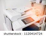 printer. printer scanner laser... | Shutterstock . vector #1120414724