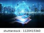 businesswoman on blurred... | Shutterstock . vector #1120415360
