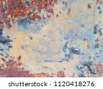 texture of rusty iron. aged... | Shutterstock . vector #1120418276