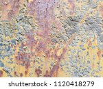 texture of rusty iron. aged... | Shutterstock . vector #1120418279