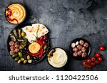 arabic traditional cuisine.... | Shutterstock . vector #1120422506