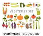 bundle of colorful hand drawn... | Shutterstock .eps vector #1120423409