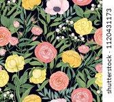 elegant floral seamless pattern ... | Shutterstock .eps vector #1120431173